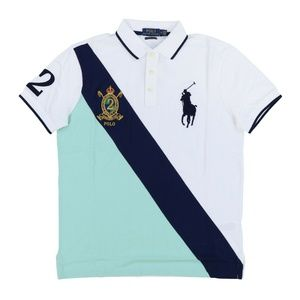 Custom Slim Fit Big Pony Gold Crest Polo Shirt #2
